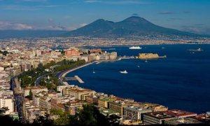 Europe, Italy, Naples, cityscape, vesuvius
