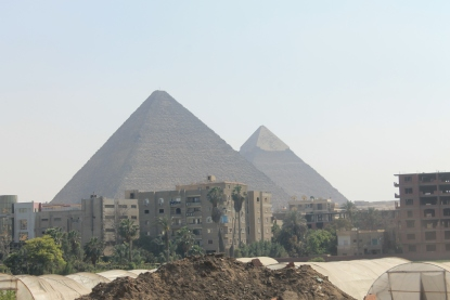 City of Giza running right up to the pyramids