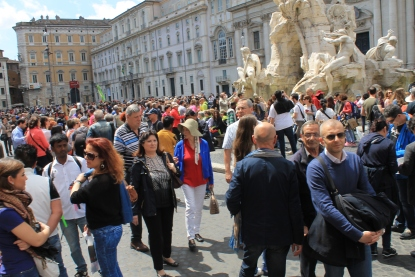 Crowds in the Piazza Navona