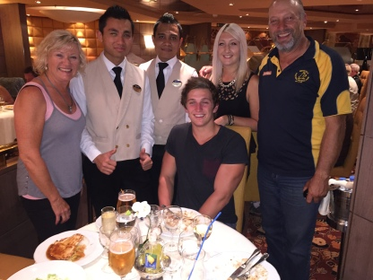 My family and our amazing waiters for the 36 days